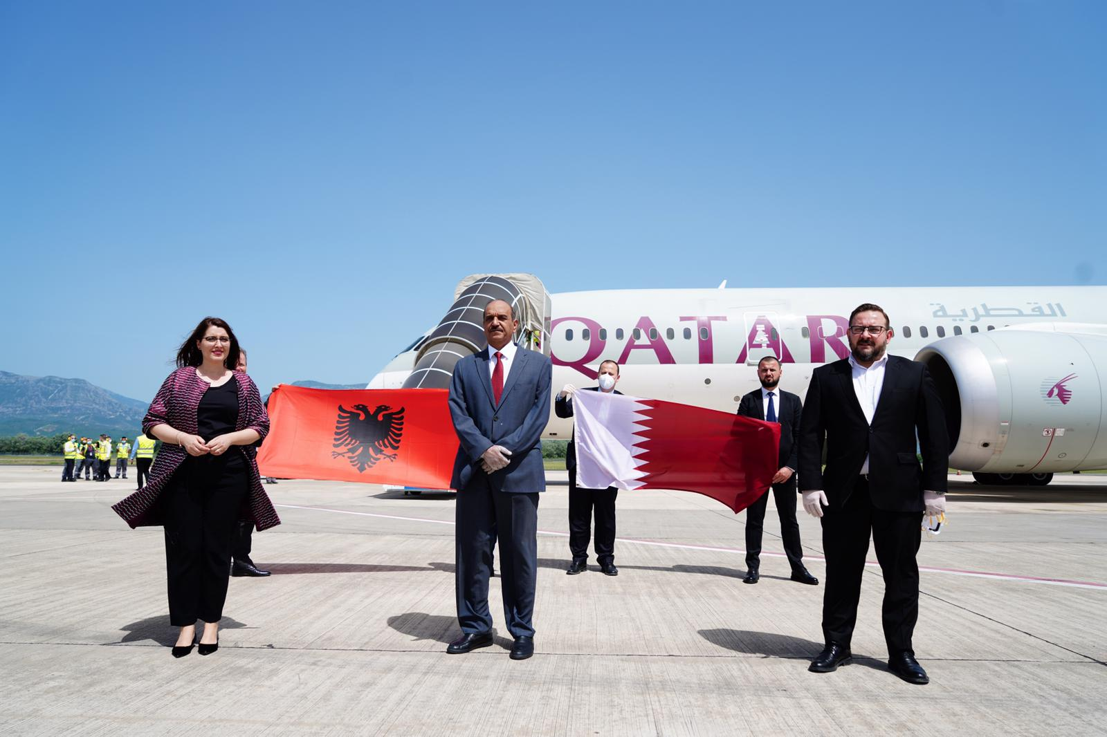وصول شحنة مساعدات طبية عاجلة إلى ألبانيا