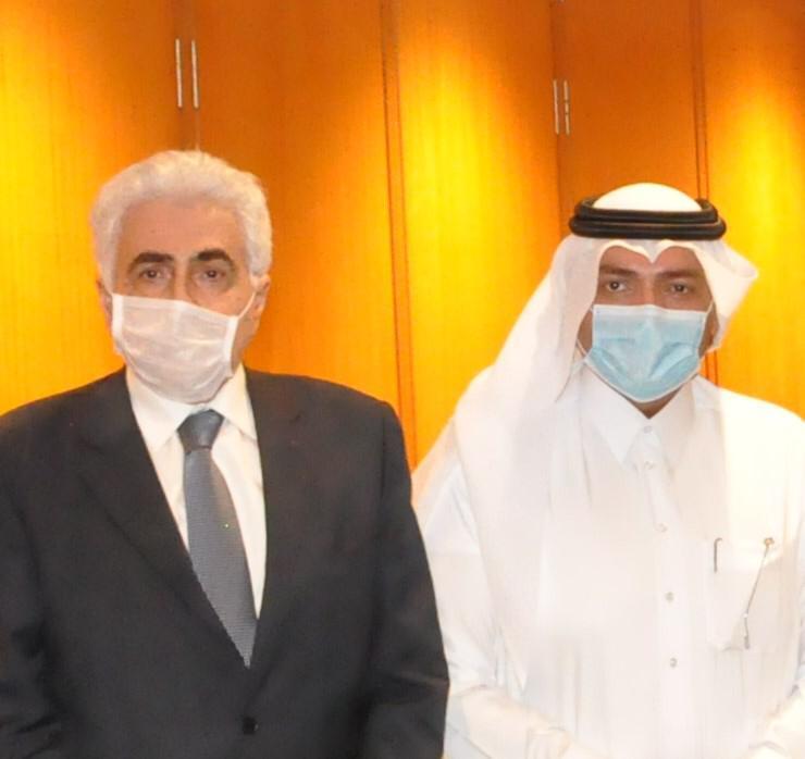 وزير الخارجية اللبناني يجتمع مع سفير قطر