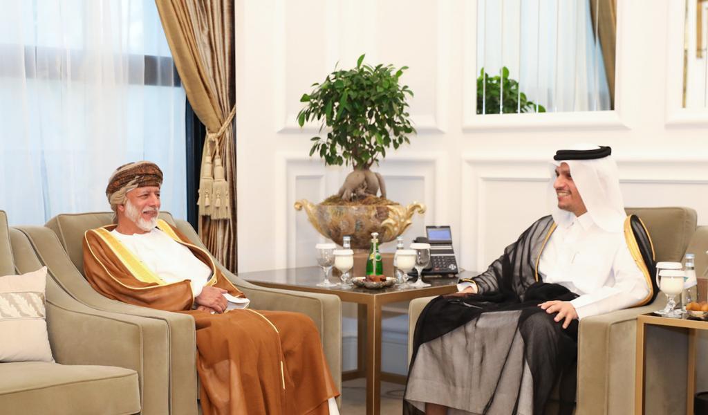 نائب رئيس مجلس الوزراء وزير الخارجية يجتمع مع الوزير المسؤول عن الشؤون الخارجية في سلطنة عمان