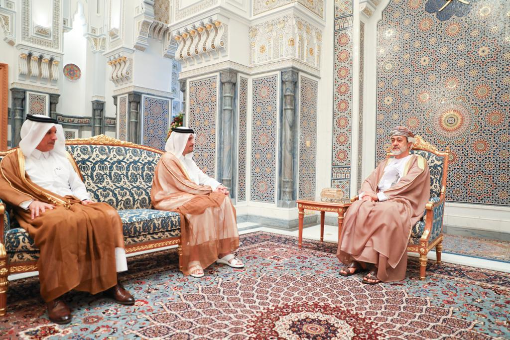 Sultan of Oman Meets Qatar's Deputy Prime Minister and Minister of Foreign Affairs