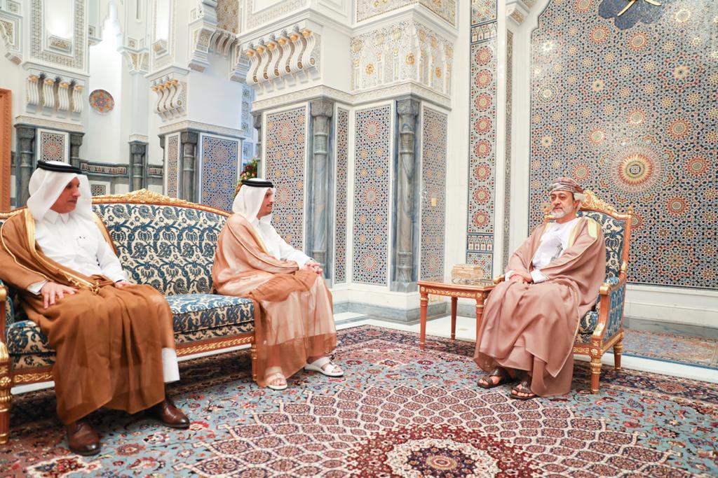 سلطان عمان يستقبل نائب رئيس مجلس الوزراء وزير الخارجية