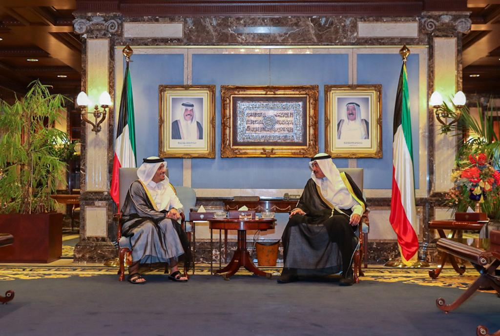HH the Amir Sends Message to Amir of Kuwait