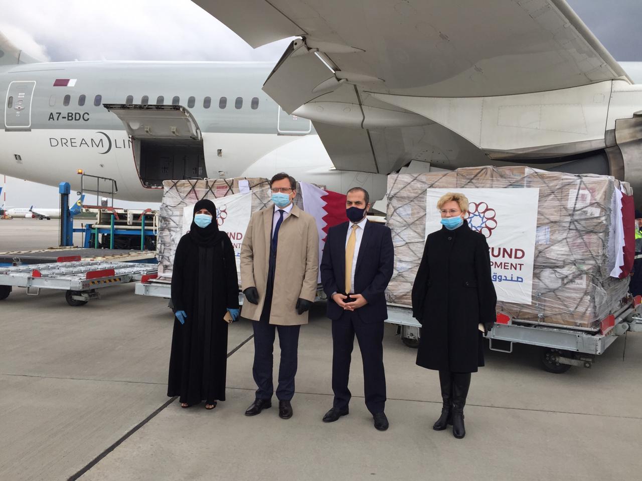 تنفيذا لتوجيهات سمو الأمير ..وصول طائرة قطرية تحمل مساعدات طبية عاجلة إلى أوكرانيا
