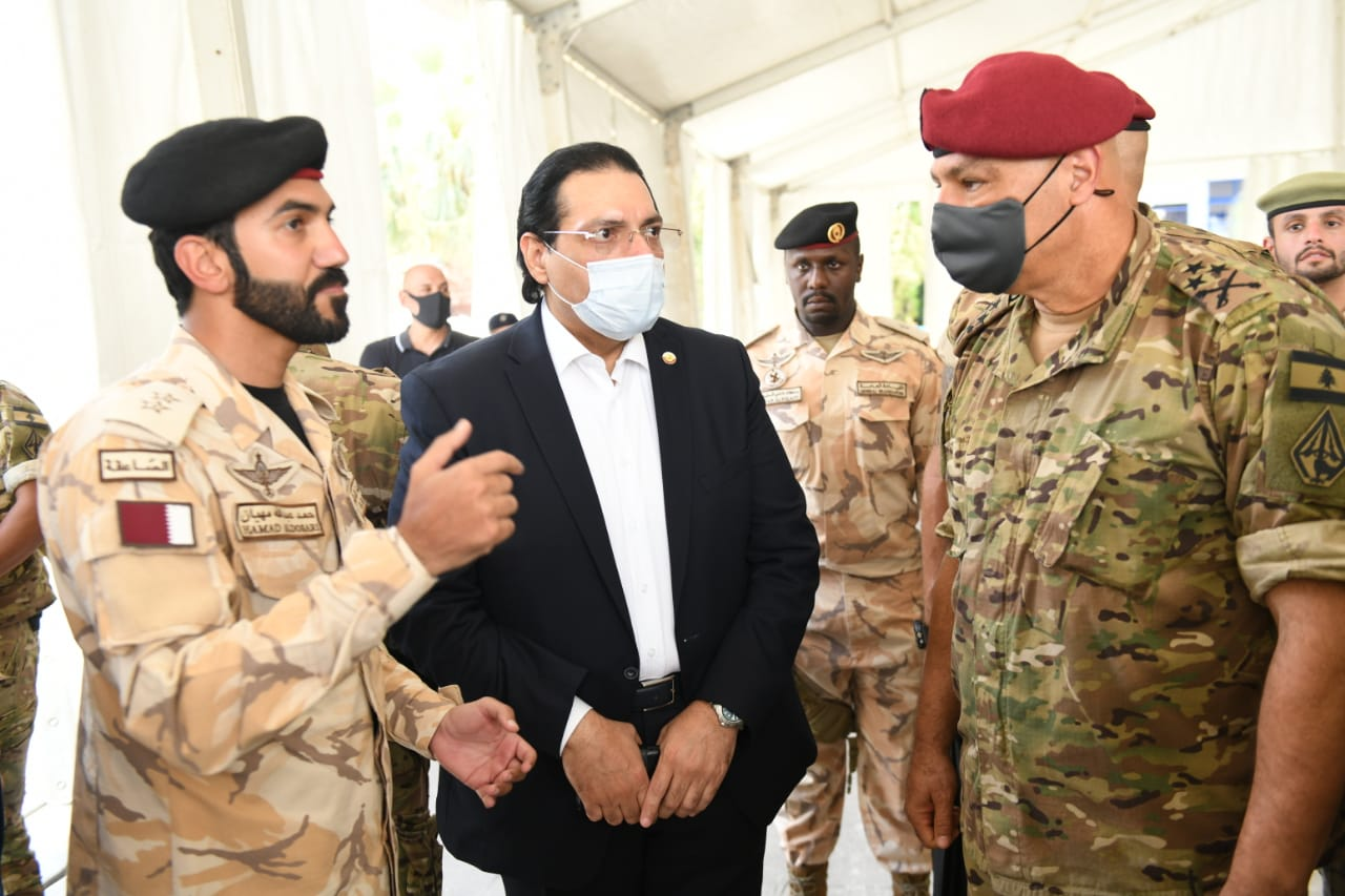 قائد الجيش اللبناني يتفقد المستشفى الميداني القطري