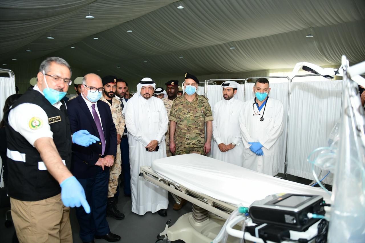 تدشين المستشفى الميداني القطري في مستشفى الروم ببيروت