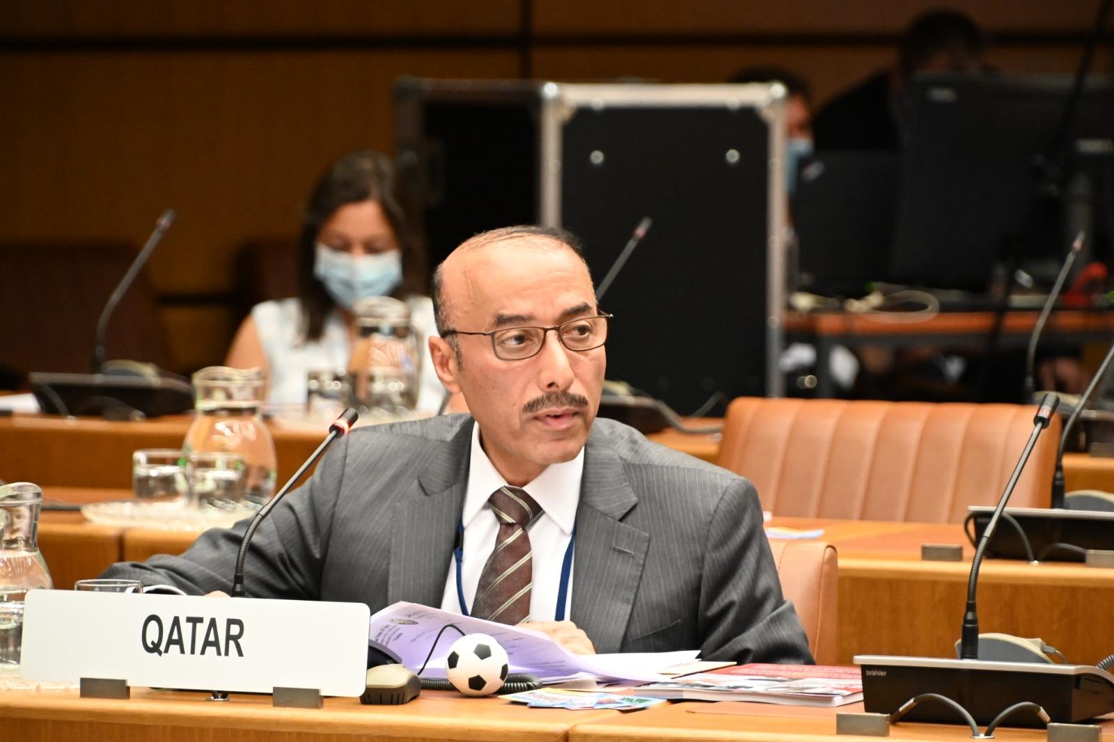دولة قطر تؤكد على أهمية دور الرياضة في تحصين الشباب ضد الجريمة والمخدرات وتحقيق التنمية والسلام