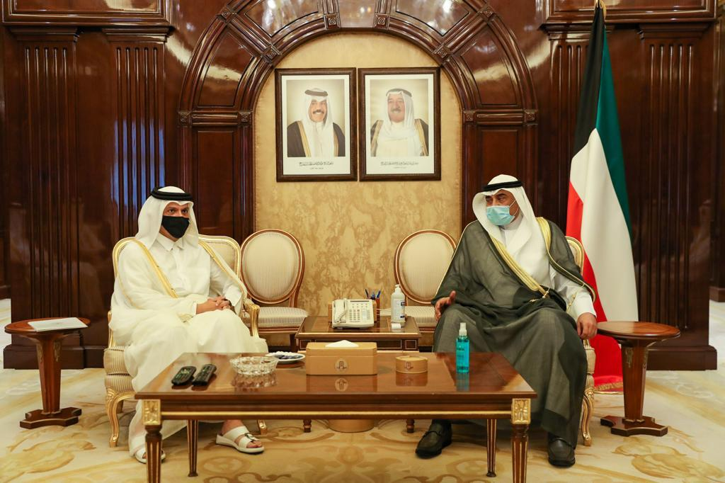 Prime Minister of Kuwait Meets Deputy Prime Minister and Minister of Foreign Affairs