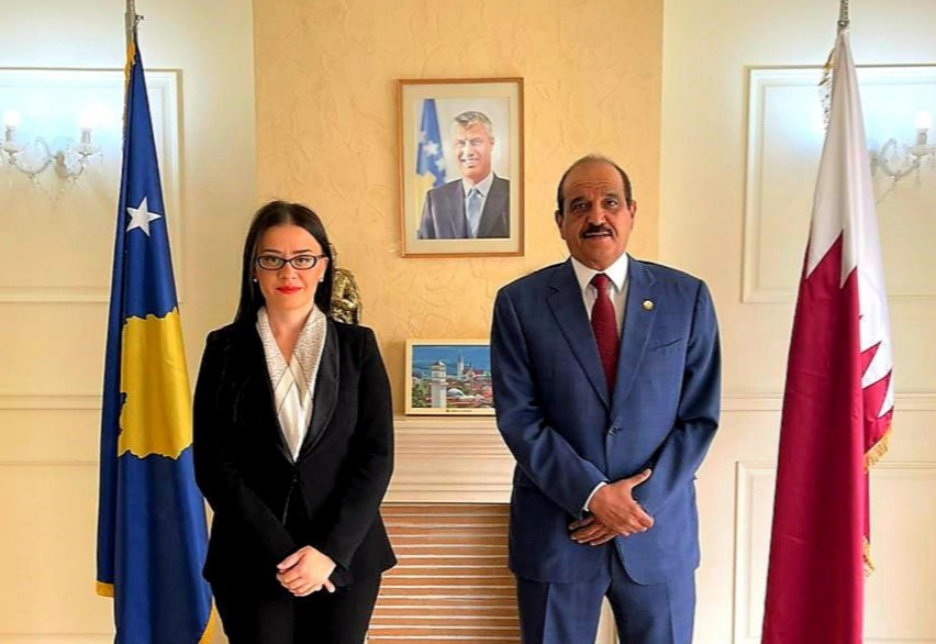 Kosovo Minister of Foreign Affairs Meets Qatar Ambassador