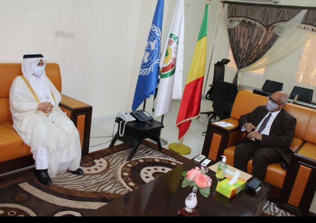 وزير الخارجية والتعاون الدولي في مالي يجتمع مع سفير دولة قطر