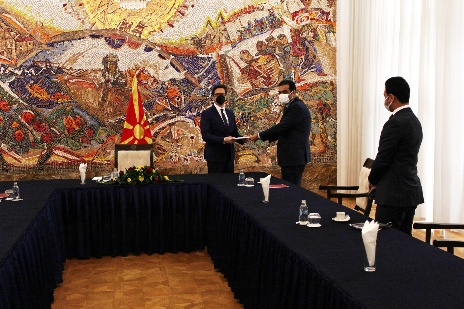 HH the Amir Sends Message to President of Macedonia