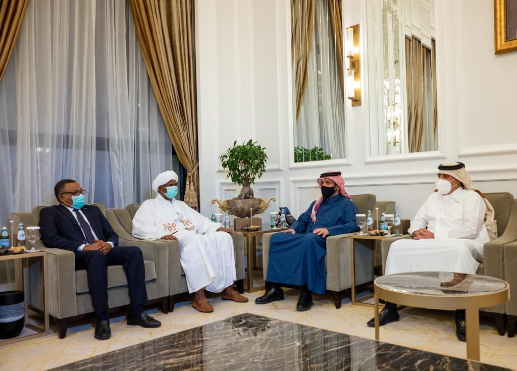 نائب رئيس مجلس الوزراء وزير الخارجية يجتمع مع النائب الأول لرئيس مجلس السيادة الانتقالي في السودان