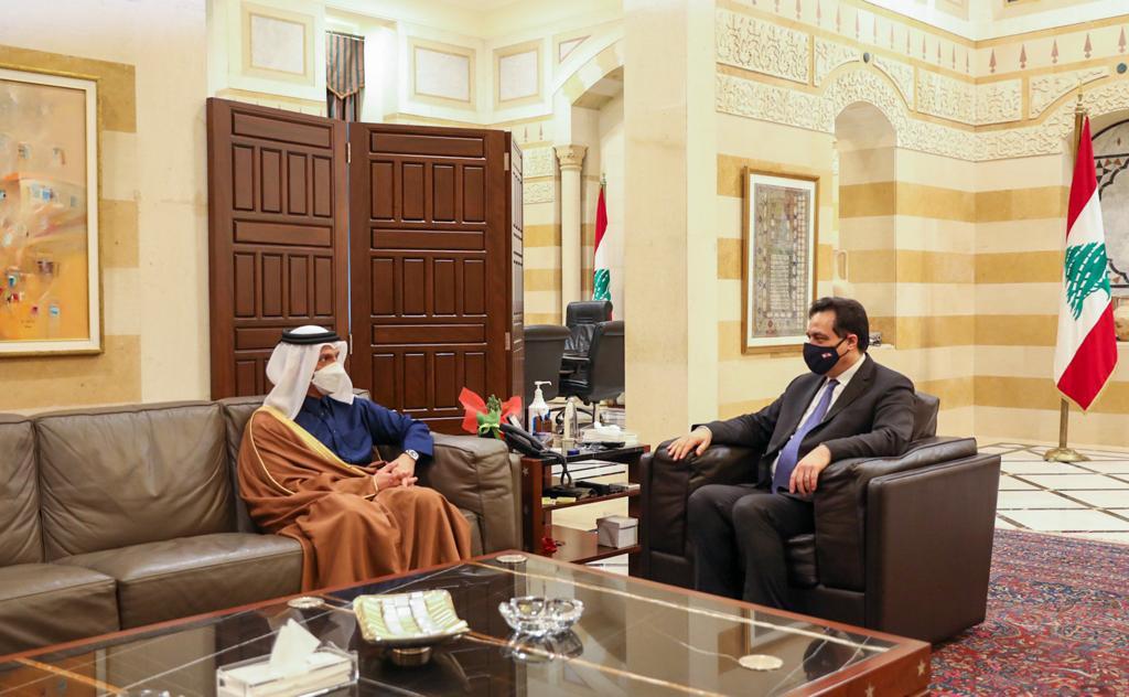 رئيس حكومة تصريف الأعمال في لبنان يجتمع مع نائب رئيس مجلس الوزراء وزير الخارجية
