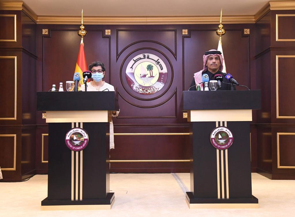 نائب رئيس مجلس الوزراء وزير الخارجية يؤكد تميز العلاقات القطرية - الإسبانية