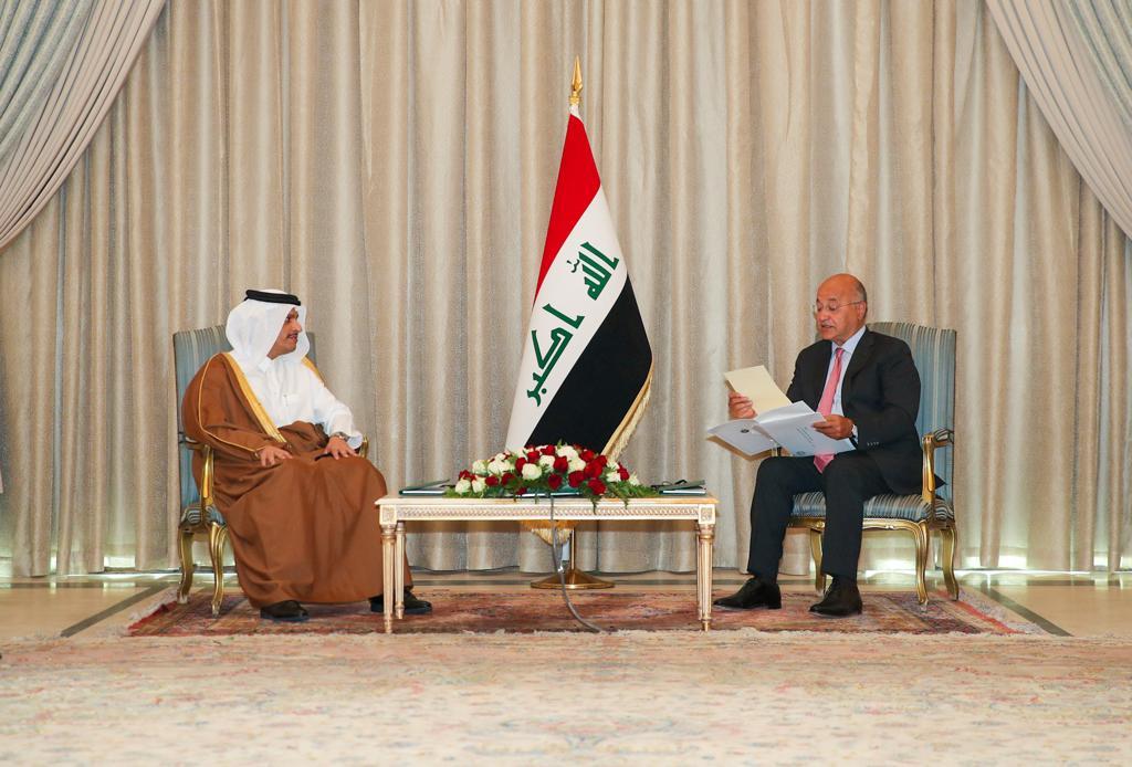 سمو الأمير يبعث رسالة إلى الرئيس العراقي