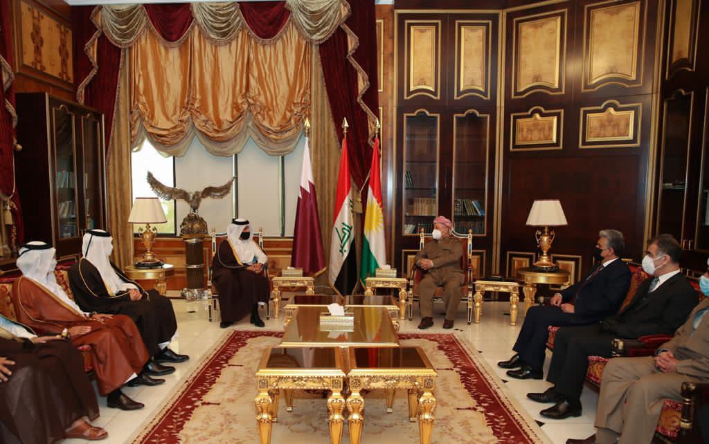 نائب رئيس مجلس الوزراء وزير الخارجية يجتمع مع رئيس الحزب الديمقراطي الكردستاني