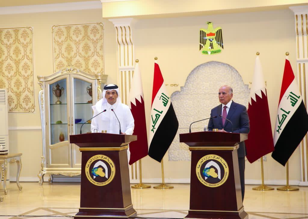 نائب رئيس مجلس الوزراء وزير الخارجية يؤكد حرص دولة قطر على دعم ومساندة العراق