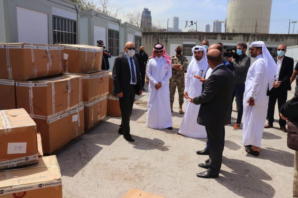 وصول شحنة مساعدات قطرية إلى لبنان