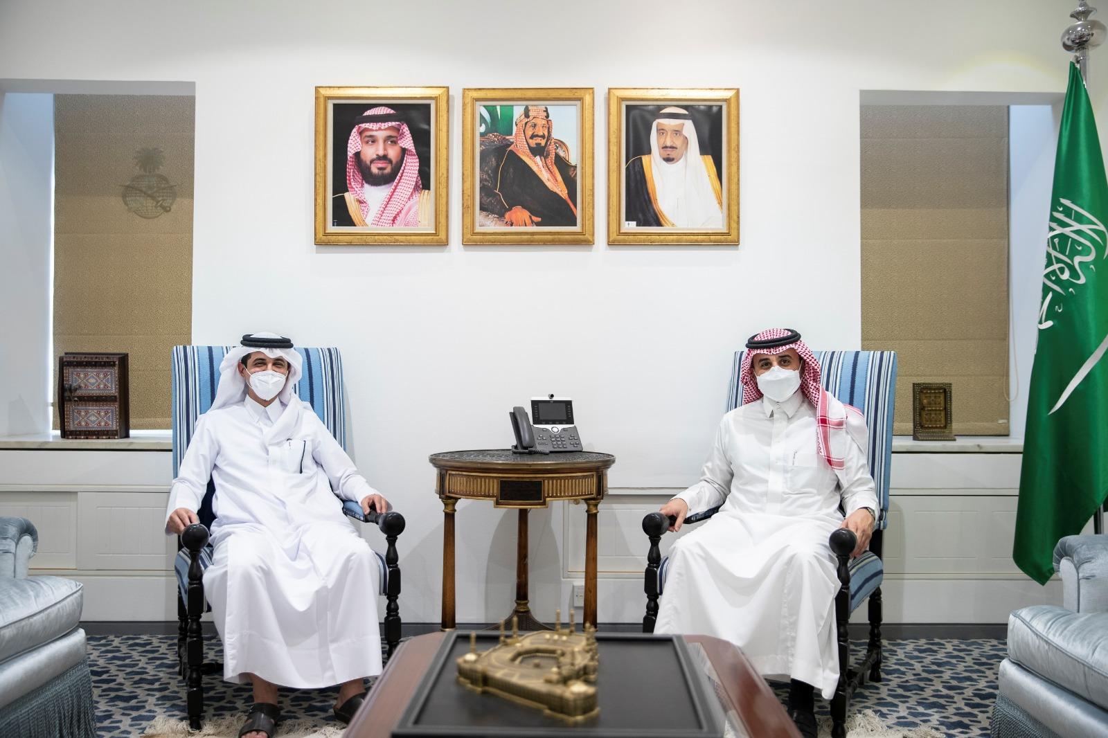 وكيل وزارة الخارجية السعودية يجتمع مع القائم بالأعمال القطري