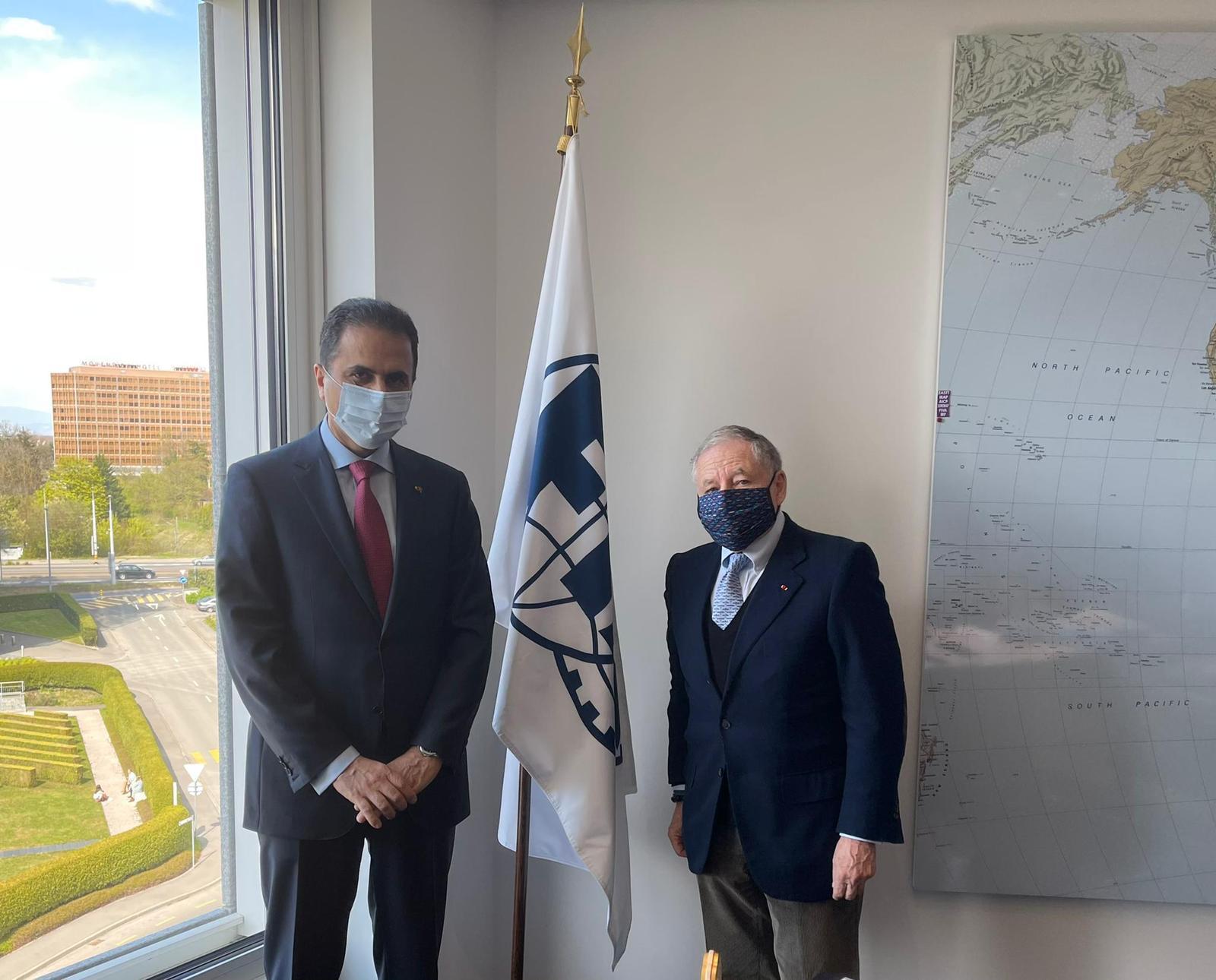 المندوب الدائم لدولة قطر لدى مكتب الأمم المتحدة بجنيف يجتمع مع مبعوث الأمين العام للأمم المتحدة لشؤون سلامة الطرق