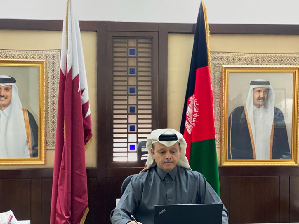وزير الصناعة في أفغانستان يجتمع مع سفير قطر