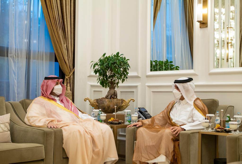 Deputy Prime Minister and Minister of Foreign Affairs Meets Minister of State and Member of Saudi Cabinet