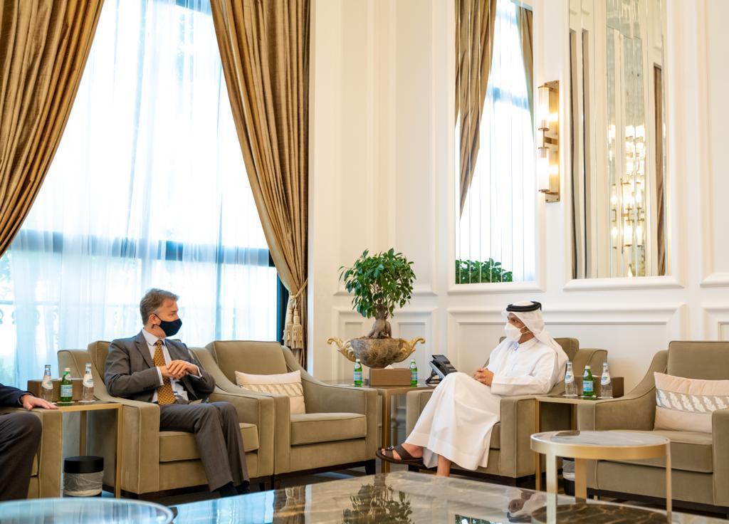 نائب رئيس مجلس الوزراء وزير الخارجية يجتمع مع المبعوث البريطاني للقرن الافريقي