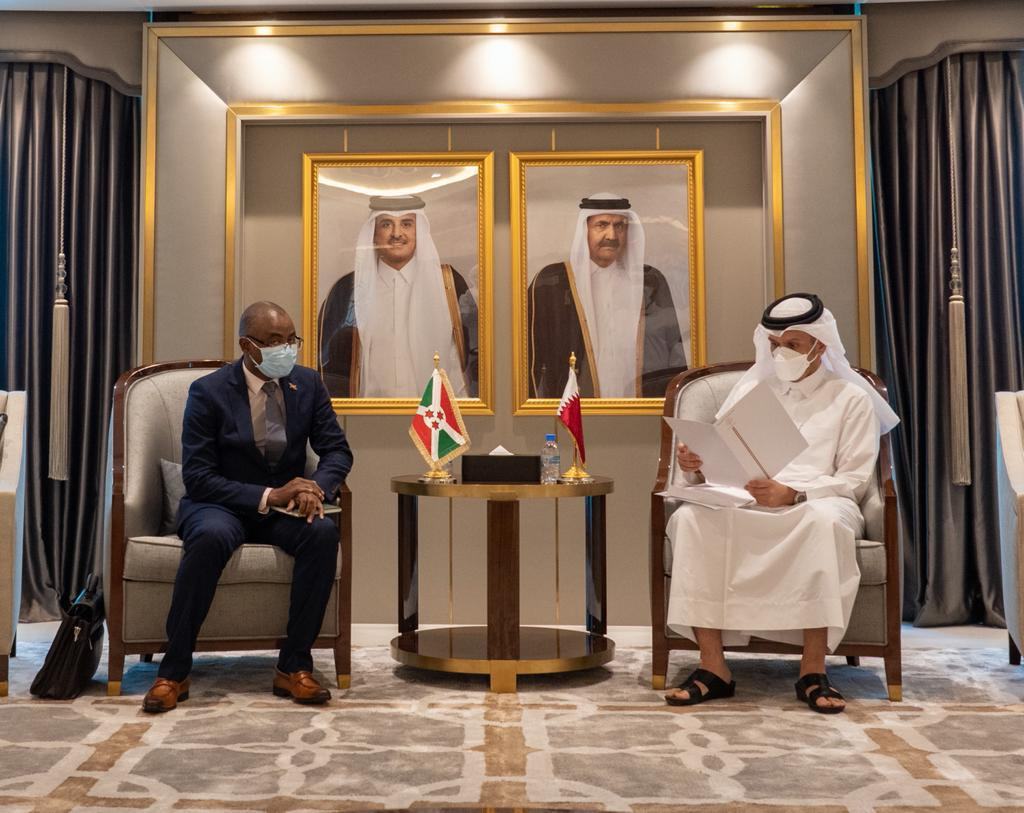 HH The Amir Receives Written Message from President of Burundi