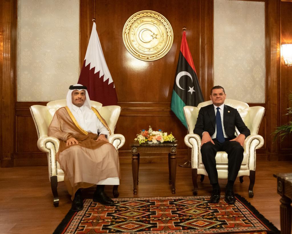 رئيس حكومة الوحدة الوطنية الليبية يجتمع مع نائب رئيس مجلس الوزراء وزير الخارجية