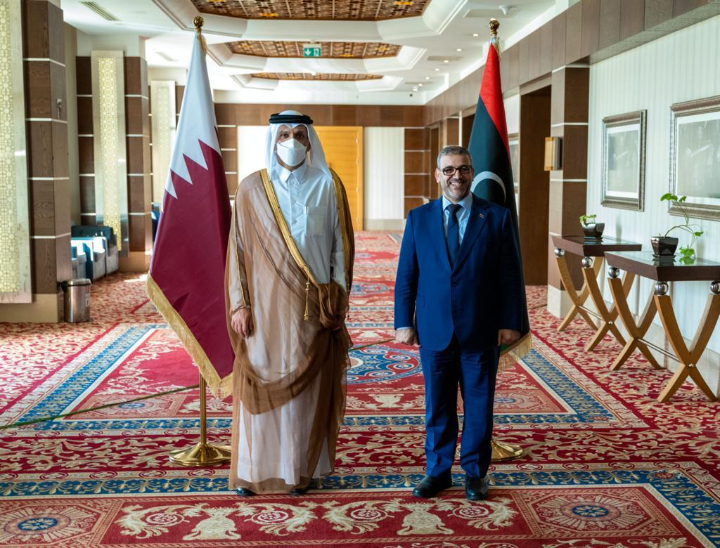 رئيس المجلس الأعلى لدولة ليبيا يستقبل نائب رئيس مجلس الوزراء وزير الخارجية