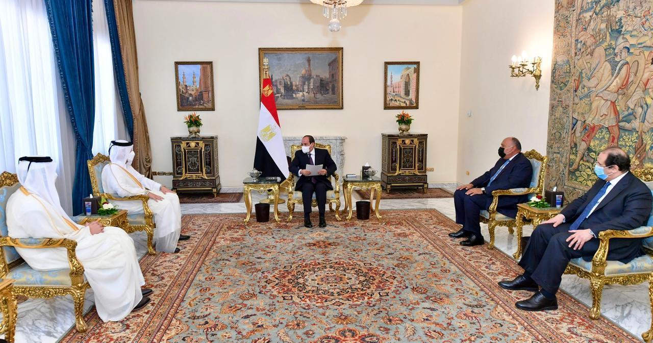 رسالة من سمو الأمير إلى الرئيس المصري