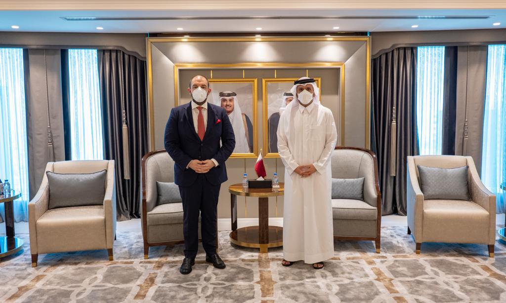 نائب رئيس مجلس الوزراء وزير الخارجية يجتمع مع سفير الاتحاد الأوروبي