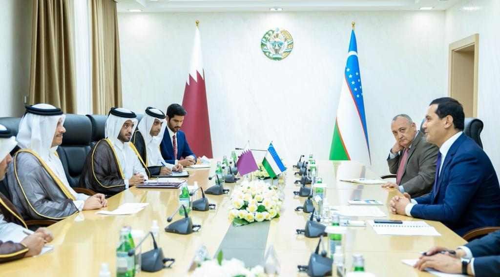 Deputy PM and Minister of Foreign Affairs Meets Uzbekistan's Deputy PM and Minister of Investments and Foreign Trade