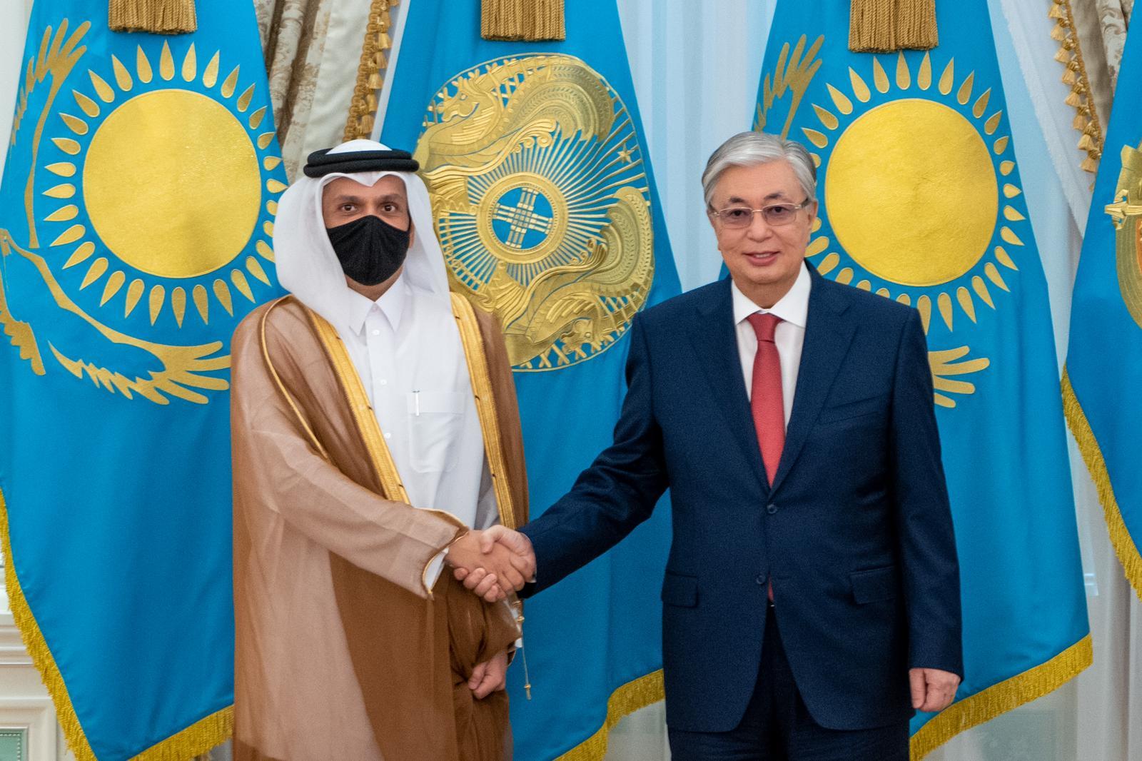 رئيس كازاخستان يستقبل نائب رئيس مجلس الوزراء وزير الخارجية