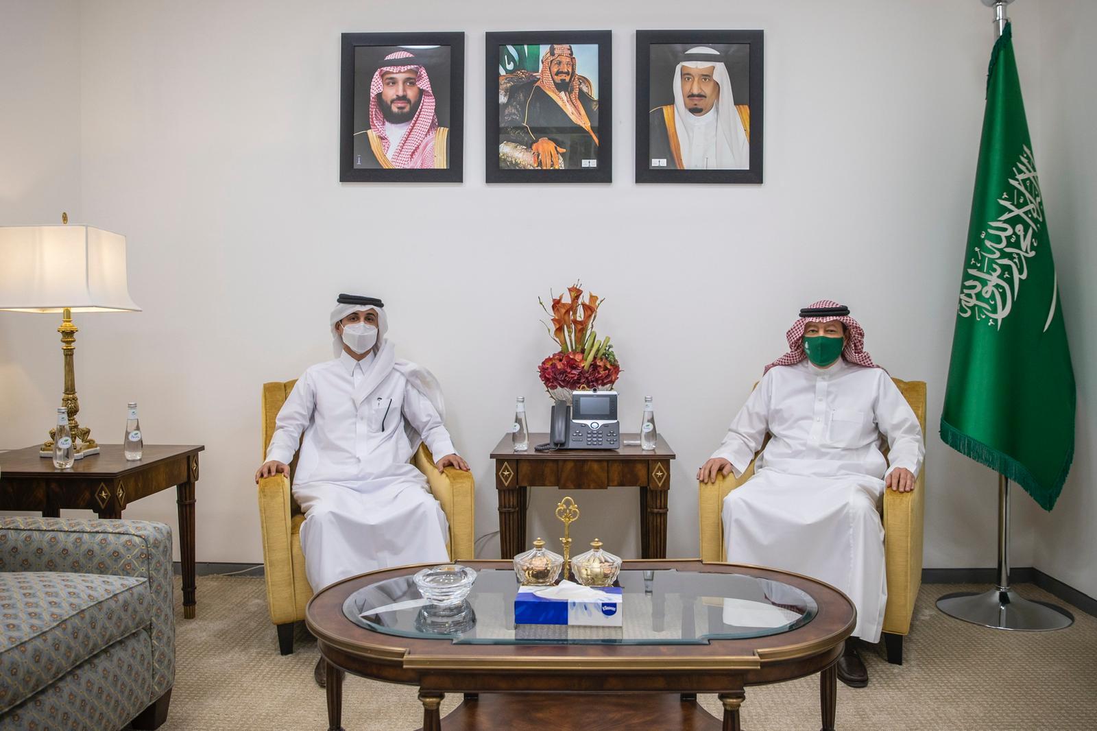 رسالة من نائب رئيس مجلس الوزراء وزير الخارجية إلى وزير الخارجية السعودي