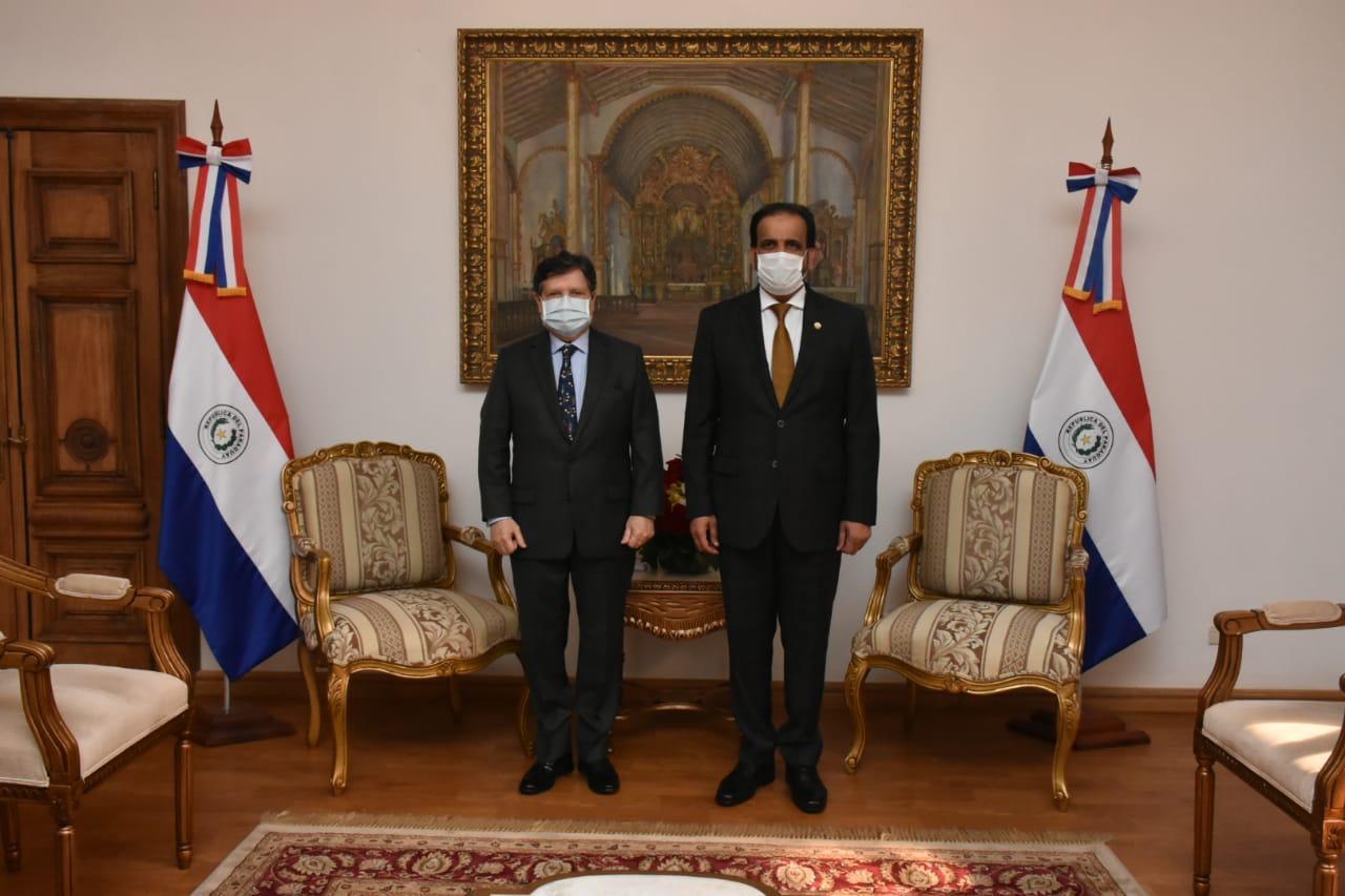 رسالة من نائب رئيس مجلس الوزراء وزير الخارجية لوزير العلاقات الخارجية في الباراغواي