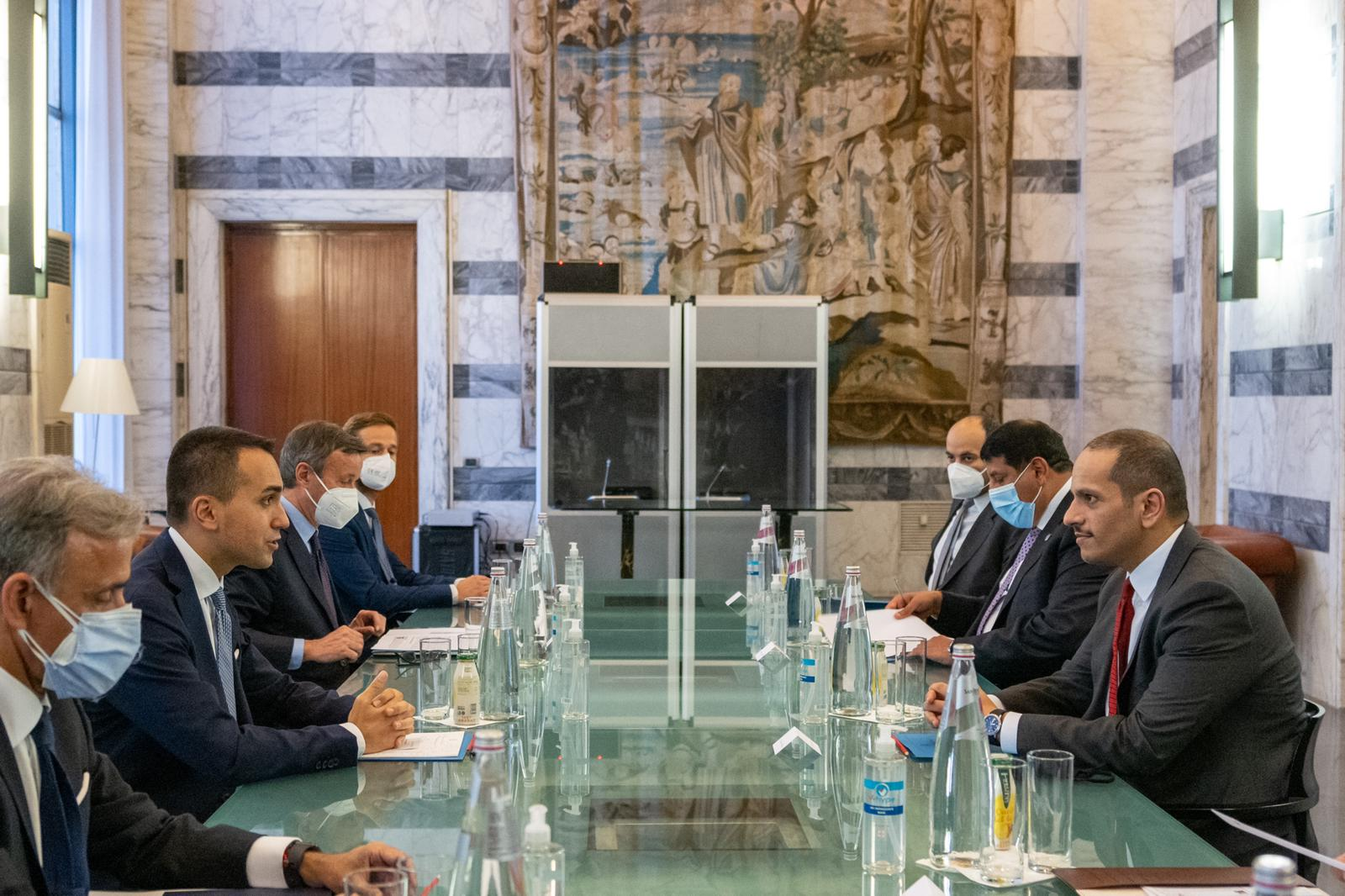 Deputy Prime Minister and Minister of Foreign Affairs Meets Italian Minister of Foreign Affairs