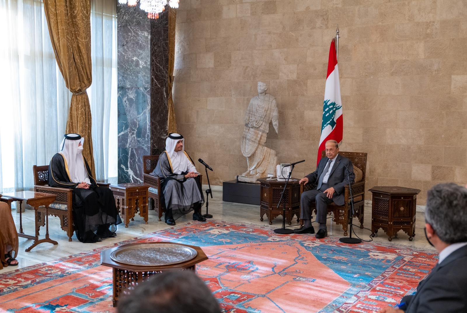 Lebanese President Meets Deputy Prime Minister and Minister of Foreign Affairs