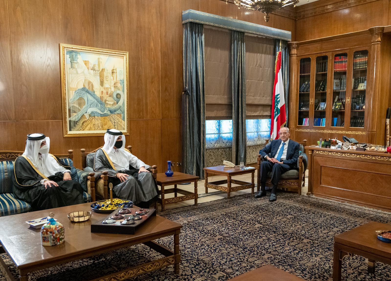 رئيس مجلس النواب اللبناني يجتمع مع نائب رئيس مجلس الوزراء وزير الخارجية