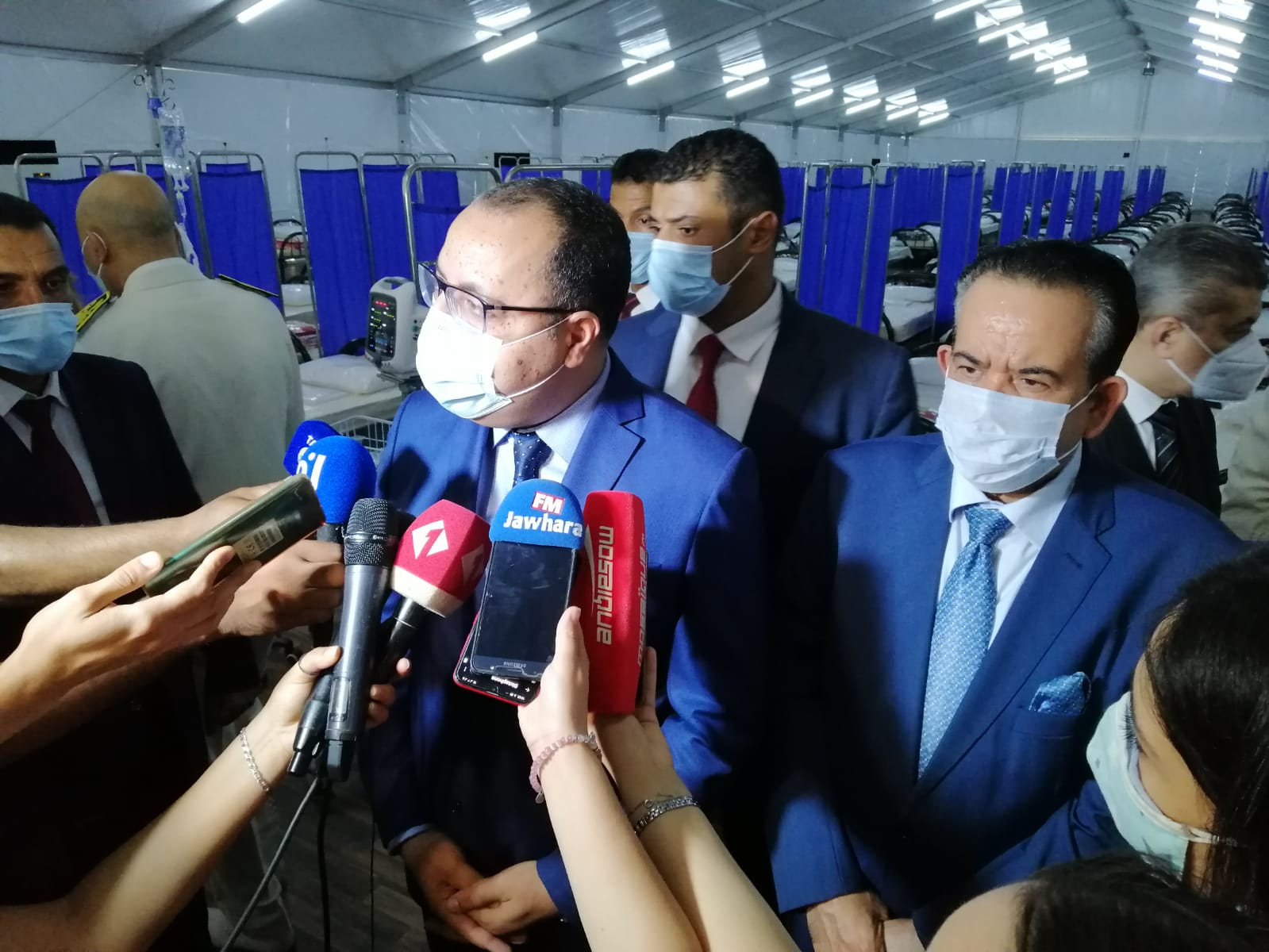 Tunisian Prime Minister Visits Qatari Field Hospital