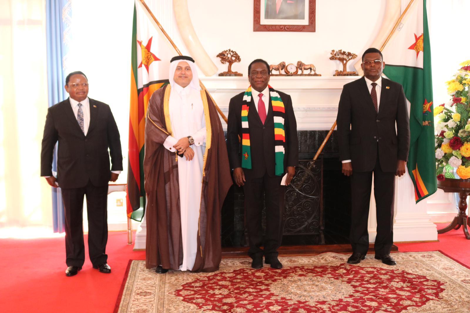President of Zimbabwe Receives Credentials of Qatar's Ambassador