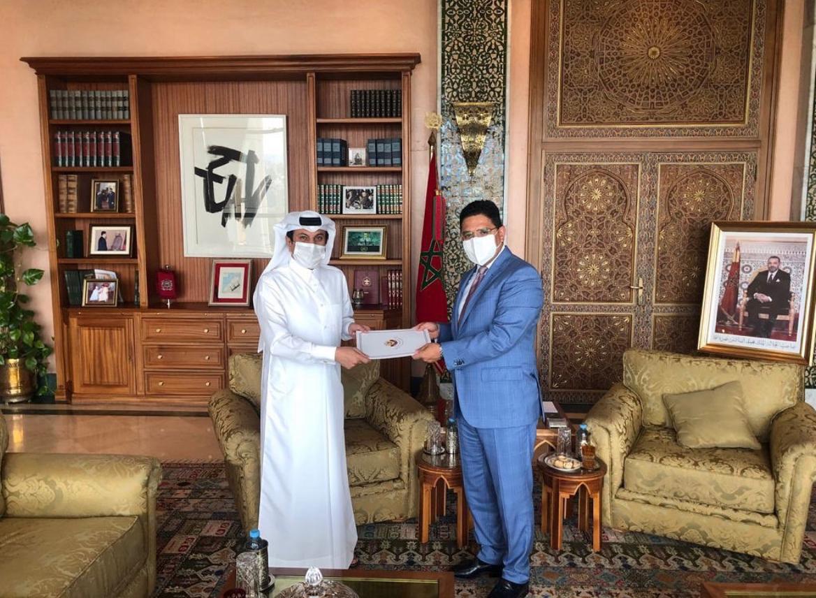 رسالة من نائب رئيس مجلس الوزراء وزير الخارجية لوزير الشؤون الخارجية المغربي