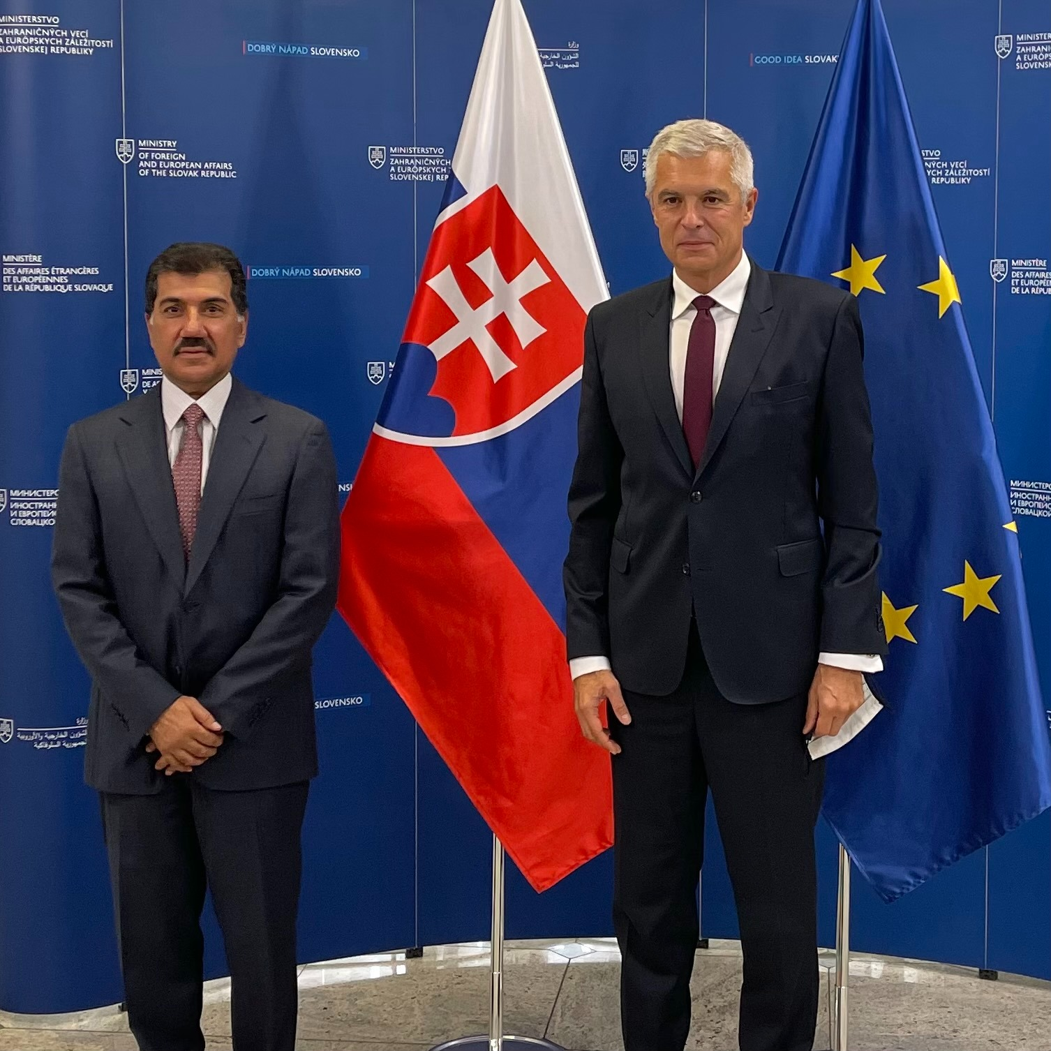 A Message from the Deputy Prime Minister and Minister of Foreign Affairs to Foreign Minister of Slovakia
