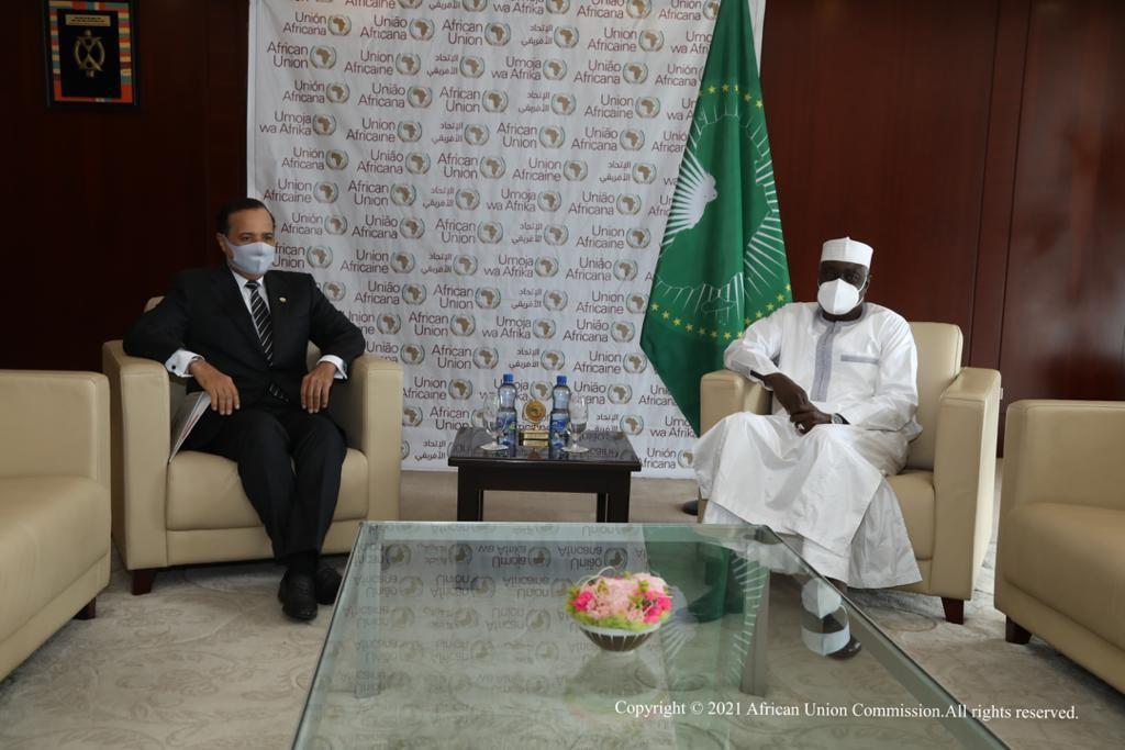 رسالة من نائب رئيس مجلس الوزراء وزير الخارجية إلى رئيس مفوضية الاتحاد الإفريقي