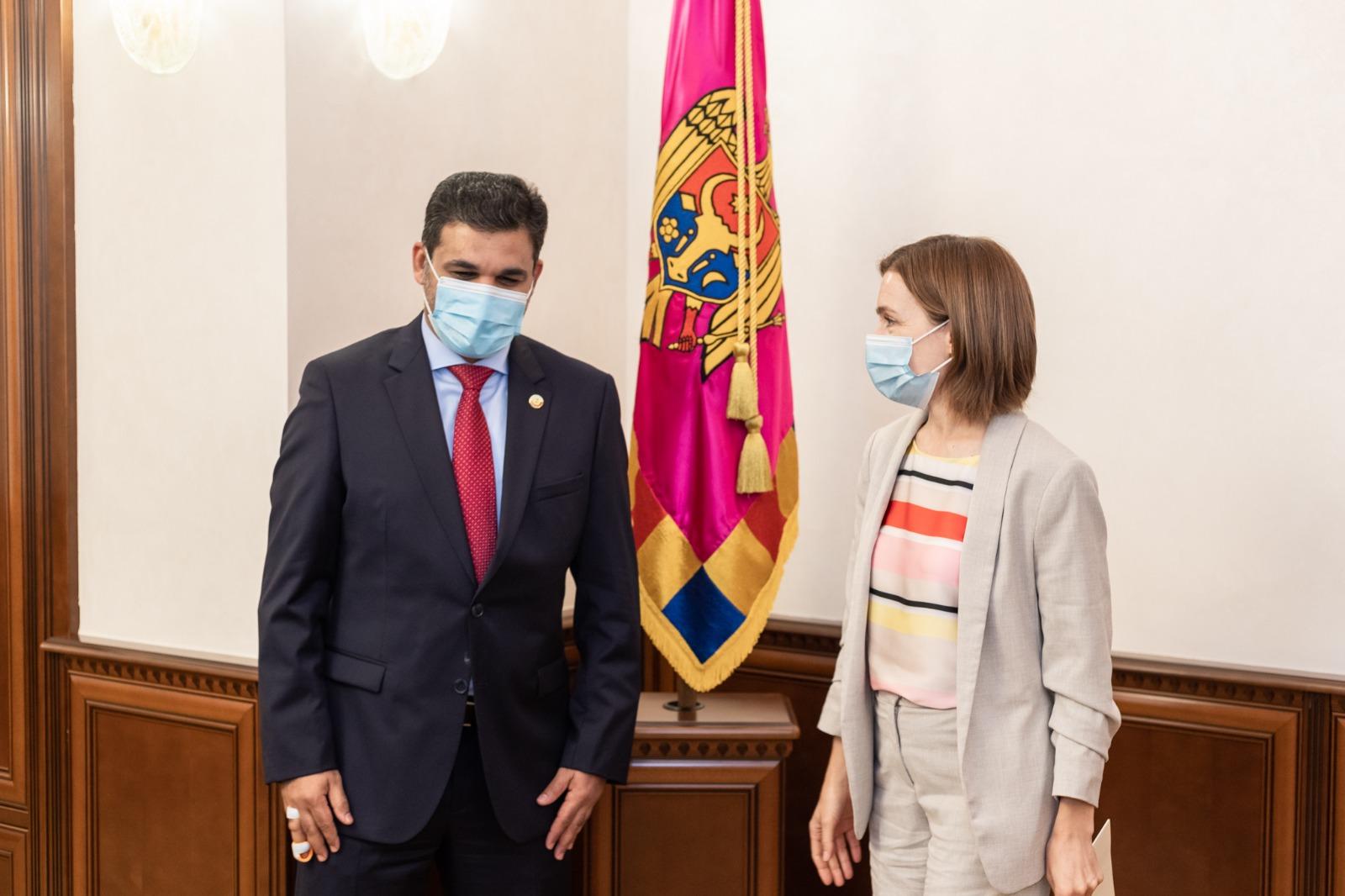 رئيسة جمهورية مولدوفا تستقبل القائم بالأعمال القطري