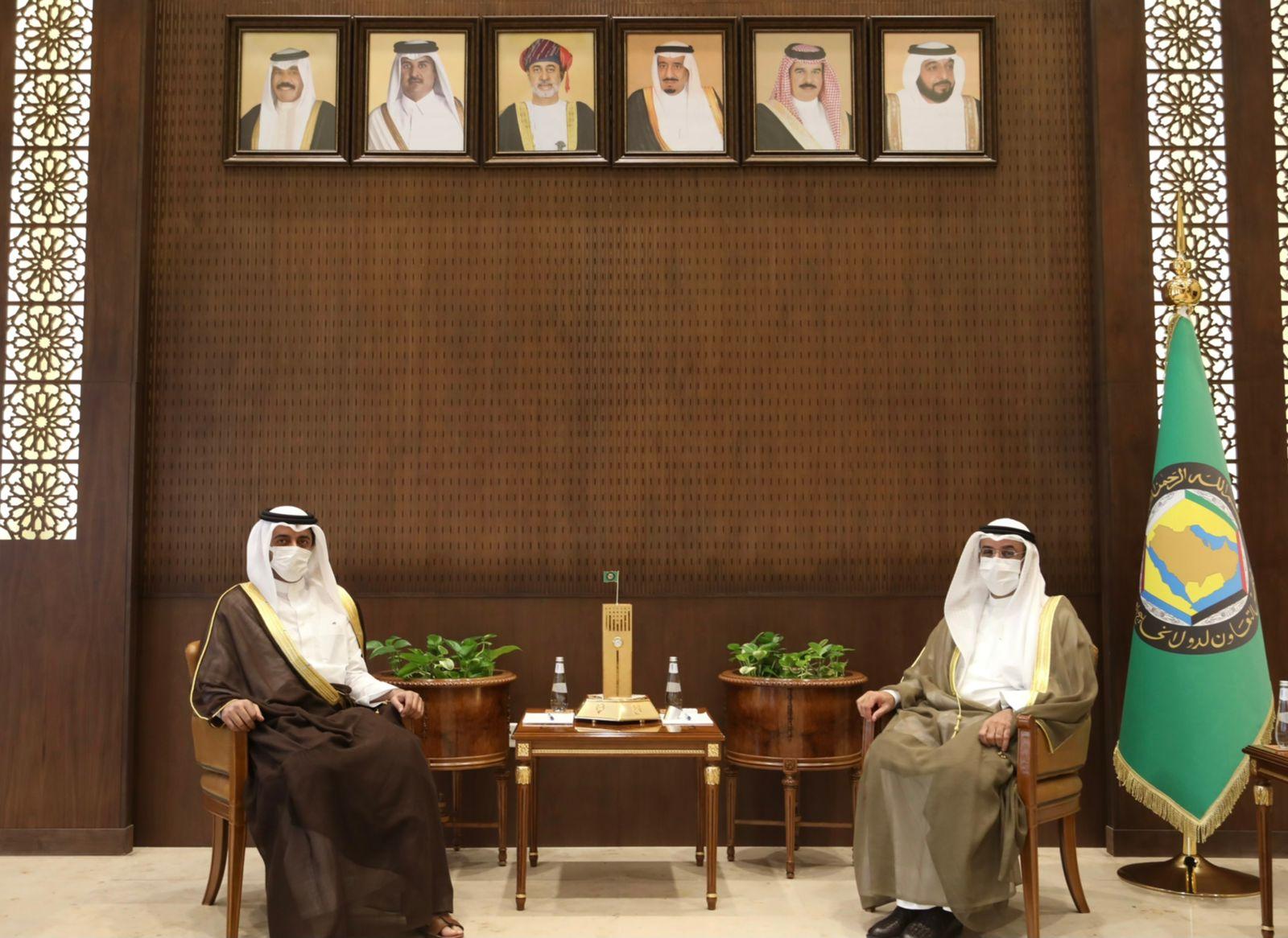 GCC Secretary-General Meets Ambassador of State of Qatar to Saudi Arabia