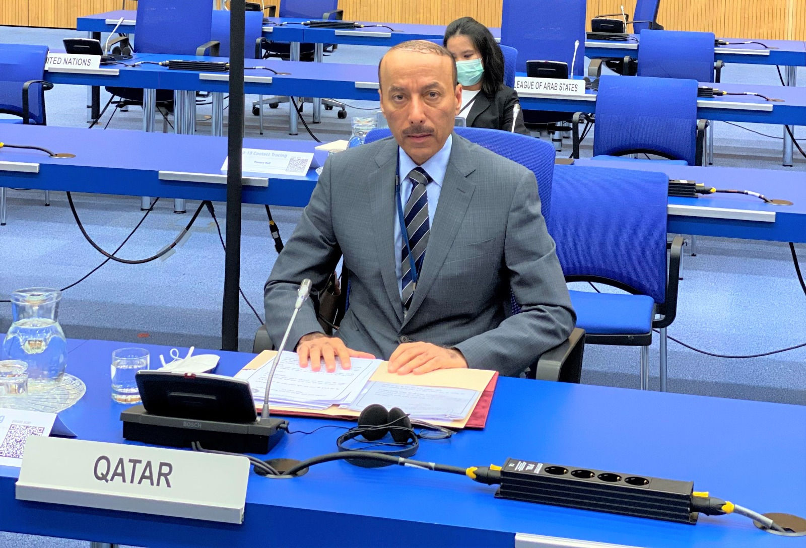 Qatar's Ambassador to Austria Delivers Arab Group's Statements on Israeli Nuclear Capabilities, Application of IAEA Safeguards in Middle East