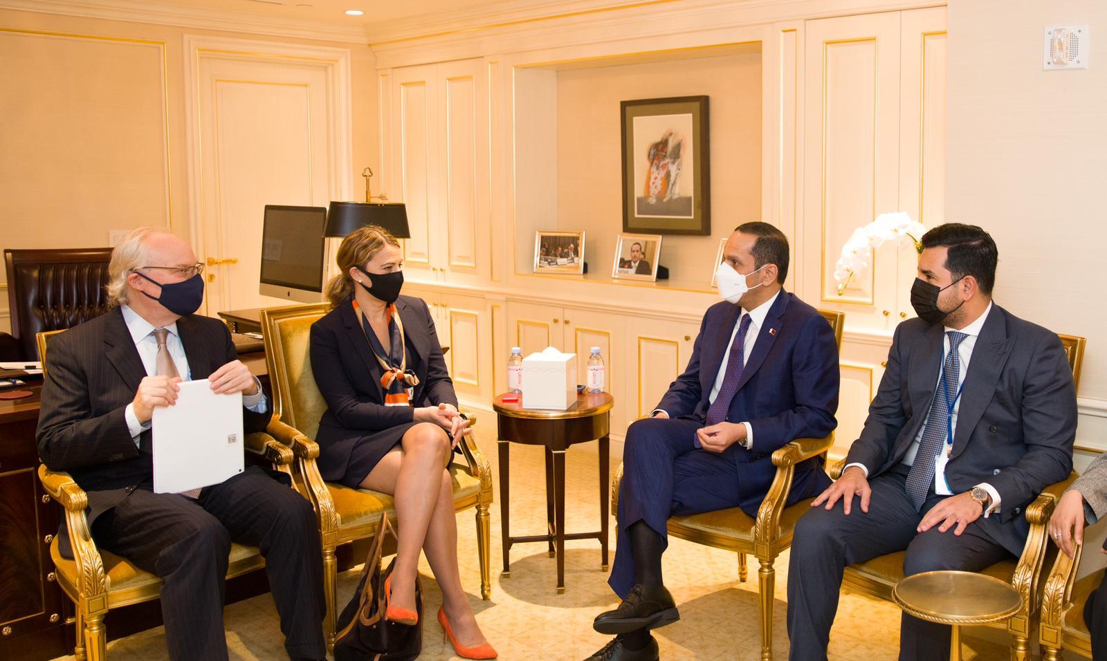 نائب رئيس مجلس الوزراء وزير الخارجية يجتمع مع عدد من المسؤولين على هامش أعمال الدورة الـ76 للجمعية العامة للأمم المتحدة