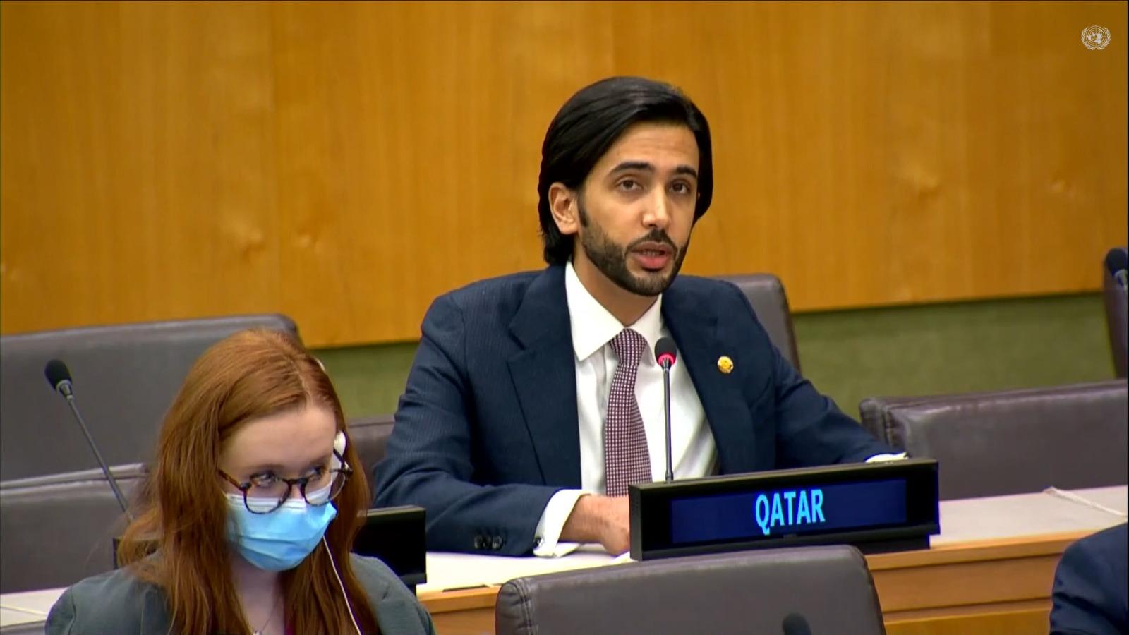 دولة قطر تجدد التأكيد على التعاون الدولي للتخلص من الأسلحة النووية وأسلحة الدمار الشامل