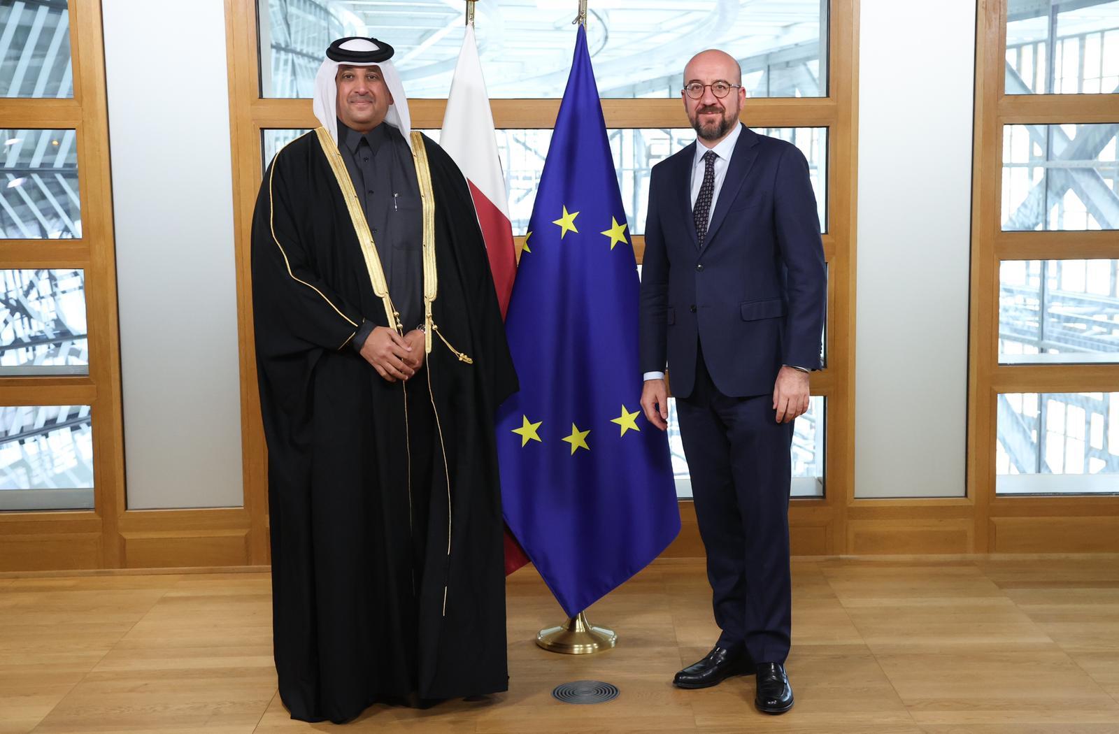رئيس المجلس الأوروبي يتسلم أوراق اعتماد سفير دولة قطر