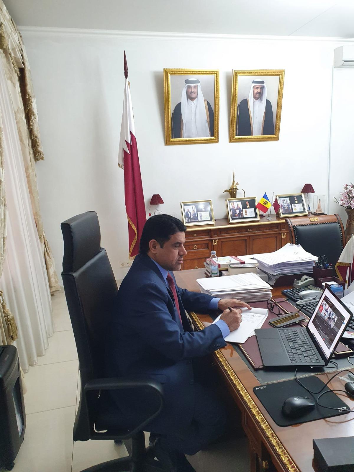 القائم بالأعمال القطري يشارك في اجتماع رئيسة مولدوفا مع رؤساء البعثات الدبلوماسية